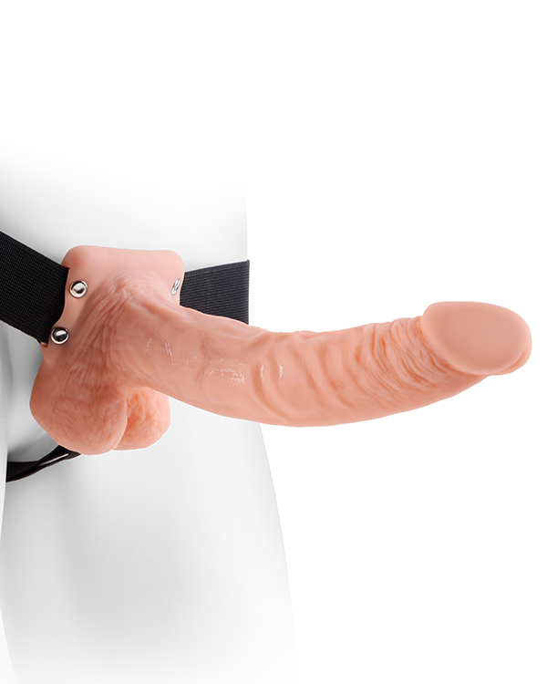 Hollow Strap On with Balls Flesh 9