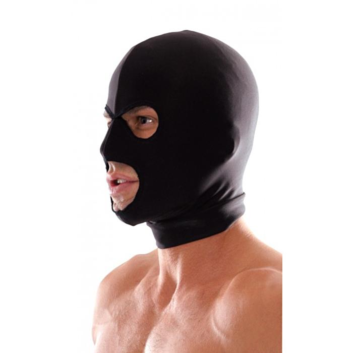 Spandex 3 Hole Hood Black