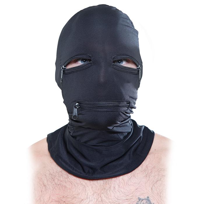 Zipper Face Hood