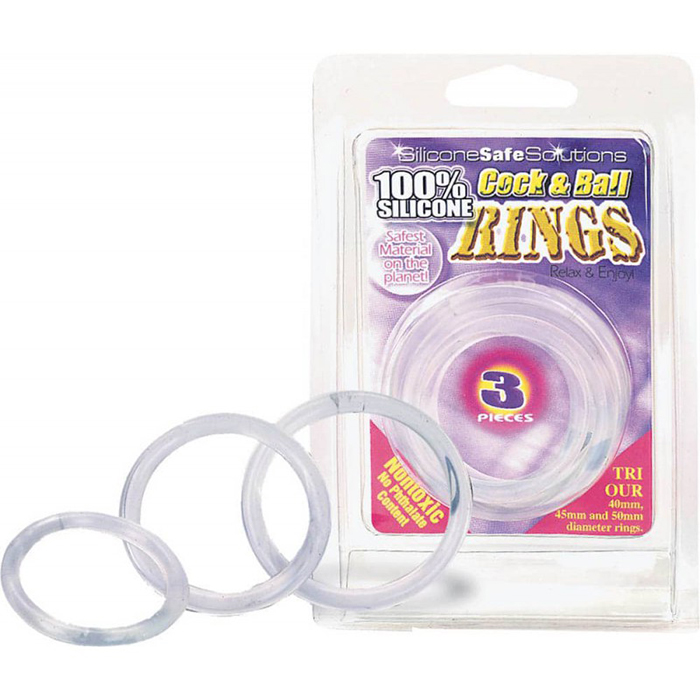 Cock and Ball Rings clear (3ks)