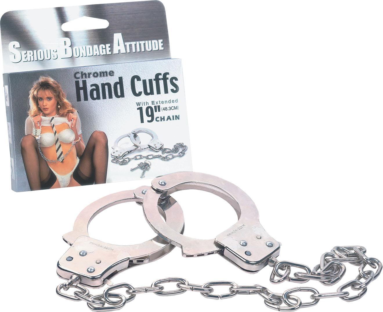 Chrome Handcuffs Metal handcuffs w. key