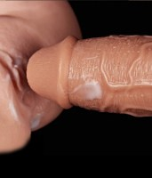 Realistic Long Vibrating Dildo Flesh Image 5