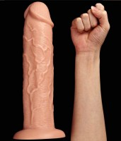 Realistic Long Vibrating Dildo Flesh Image 8
