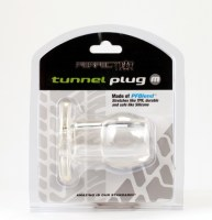 Ass Tunnel Plug Silicone TPR MEDIUM Clear Image 1
