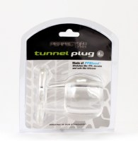 Ass Tunnel Plug Silicone TPR LARGE Clear Image 1