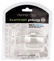 Ass Tunnel Plug Silicone TPR EXTRA LARGE Clear Image 1