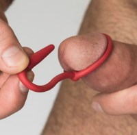 Silicone Cock Plug Red Image 2