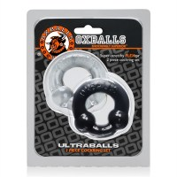 Ultraballs 2 Pack Cockring Black Clear (2ks) Image 2