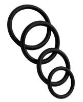 Rubber Cockring 4 Ring Set Black Image 1
