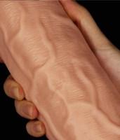 Realistic Curved Dildo Flesh Image 4