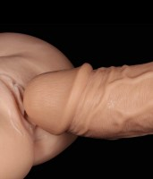 Realistic Curved Dildo Flesh Image 5