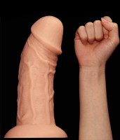 Realistic Curved Dildo Flesh Image 8