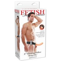 Hollow Strap On Flesh Vibrating 8 Image 4
