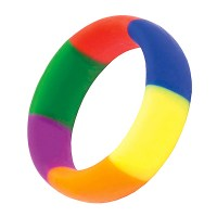 Rainbow Silicone Cock Ring (45/19mm) Image 1