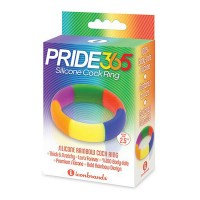 Rainbow Silicone Cock Ring (45/19mm) Image 2