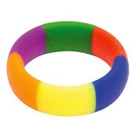Rainbow Silicone Cock Ring (45/19mm) Image 0