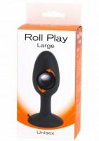 Roll Play Anal Plug Black Large Image 2