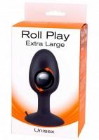 Roll Play Anal Plug Black Extra Large Image 2