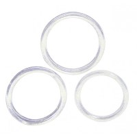 Cock and Ball Rings clear (3ks) Image 1