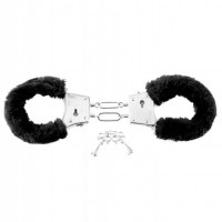Beginners Furry Cuffs Black Image 1
