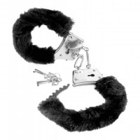 Beginners Furry Cuffs Black Image 0