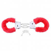 Beginners Furry Cuffs Red Image 1