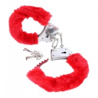 Beginners Furry Cuffs Red Image 0