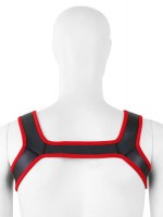 Pupplay Neoprene Harness Black-Red Image 1
