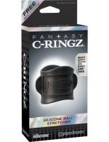 Fantasy C-Ringz - Silicone Ball Stretcher Black Image 6