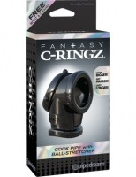 Fantasy C-Ringz - Cock Pipe with Ball Stretcher Black Image 1