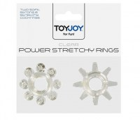 Power Stretchy Rings Clear (2ks) Image 1