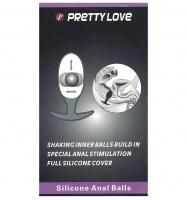 Pretty Love Heavy Balls Silicone Butt Plug Image 4