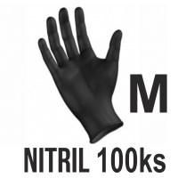 Rukavice NITRIL čierne (100ks - M) Image 0