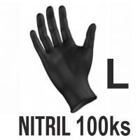 Rukavice NITRIL čierne (100ks - L) Image 0