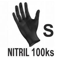 Rukavice NITRIL čierne (100ks - S) Image 0
