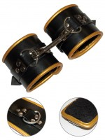 tci-9301-padded-leather-restraints-black-gold