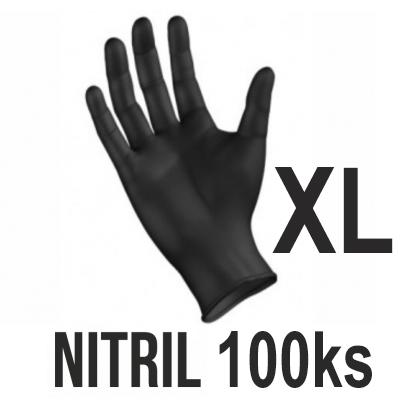 Rukavice NITRIL čierne (100ks - XL)