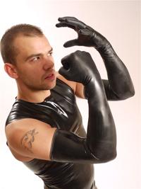 Gumené rukavice shoulder