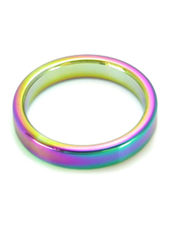 High Polished Rainbow Cockring (50/8mm)